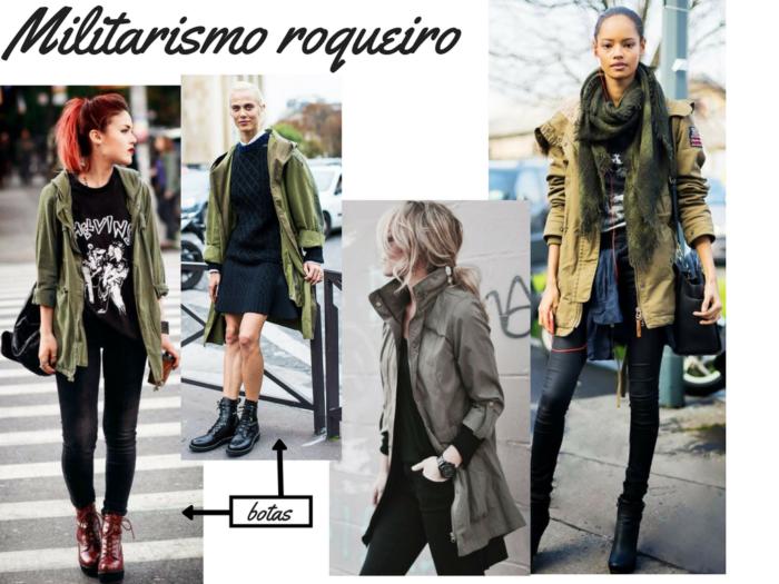 moda | estilo militar | moda inverno 2017 | moda militar inverno 2017 | jaqueta verde exercito | jaqueta utilitário | estilo militar outono inverno 2017