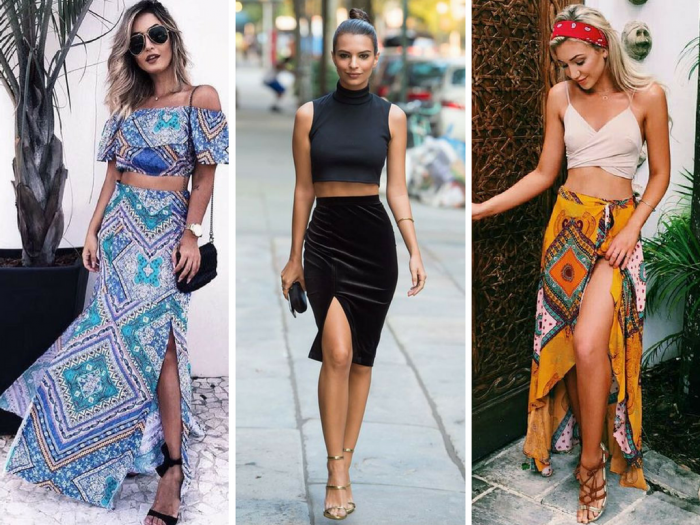 vestido com fenda   saia com fenda   como usar saia com fenda   moda feminina   roupas da moda   moda 2016   moda 2017