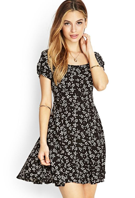 fashion tips summer clothes floral print dark prints dress