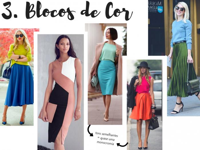 moda 2017 | truques de moda | silhueta | moda e silhueta | dicas de moda | moda feminina | roupas | roupas da moda | blocos de cor | color blocking