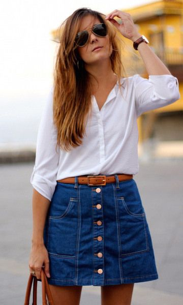 fashion clothes that will always be in style denim skirt