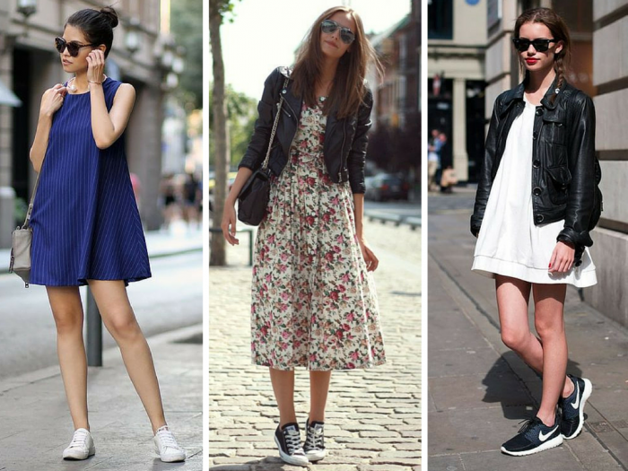 Fashion 2016 dresses with sneakers for every hour of your day - Lindizzima Blog | Use a moda ...