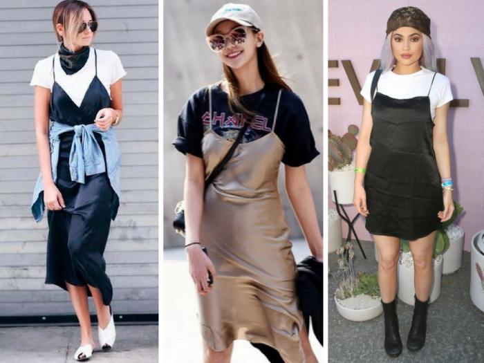 moda | dicas de moda | moda 2016 | vestido com camiseta | sobreposição vestido e camiseta | vestido de alça e camiseta | meia estação