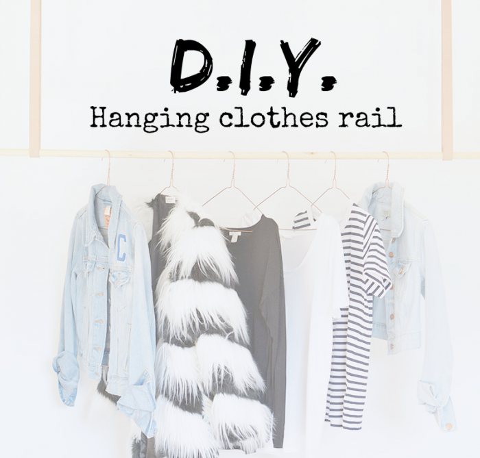 DIY | do it yourself | hanging clothes rail | clothes hanger | do it yourself tips | DIY tips | DIY posts