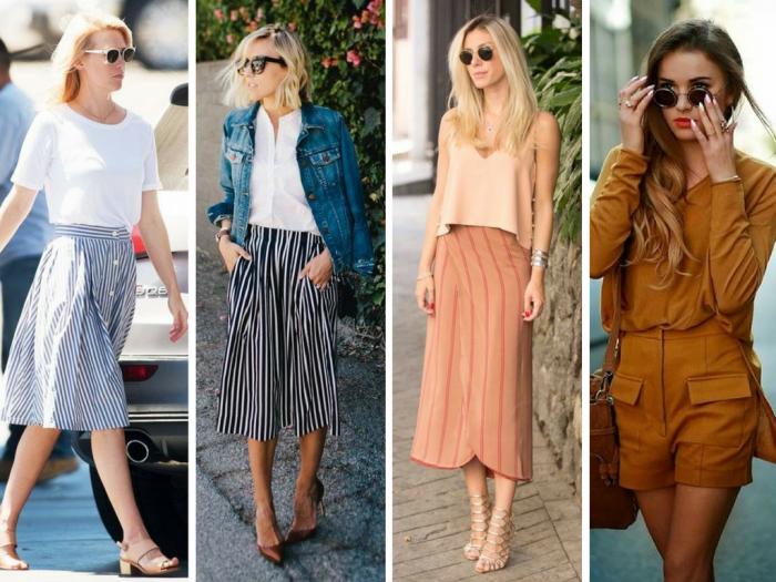 moda | moda 2016 | moda 2017 | moda verão | moda verão 2017 | truque de styling para alongar pernas | dicas de moda para valorizar pernas | pernas de fora | dicas de moda | moda feminina | shorts | saia | vestidos | listras