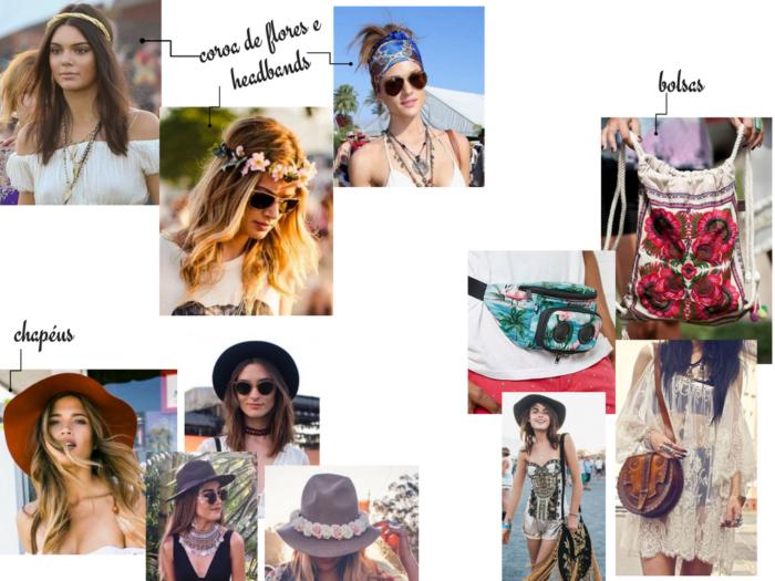 moda outono inverno 2017 | moda | looks | looks para festival | looks para festival de musica | fashion | estilo | moda feminina | looks para lollapalooza | saia longa | macaquinho | vestido | short jeans | top cropped | chapeu | oculos | colar | chocker