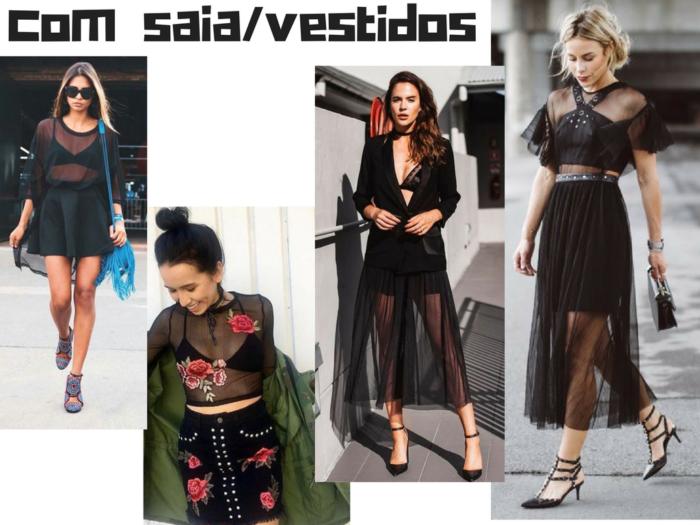 moda | roupas | moda feminina | blusa preta transparente | tendencias | tendencia 2017 | moda 2017 | dicas de moda