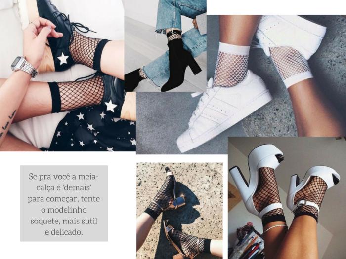 moda | moda 2017 | moda feminina | meia arrastao 2017 | meia arrastao | como usar meia arrastao | looks com meia arrastao