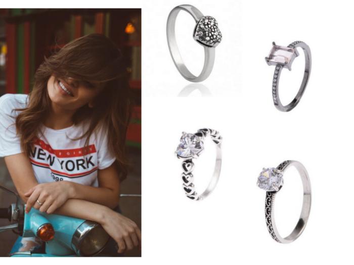 Moda | Anel de prata feminino | Anel feminino de prata   Anel de prata | Anel em prata | Modelos de anéis em prata | Anel feminino | Anel | Modelo de anel feminino | Modelos de anéis | Anel simples | Anéis grandes | Joias | Moda feminina | acessórios femininos