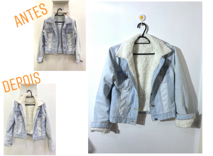 moda   moda 2018   jaqueta jeans   look com jaqueta jeans   jaqueta jeans forro de ovelha   jaqueta forro pêlo de carneiro