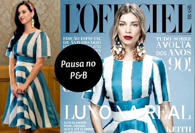 4536a0296aeb6 Listras em P B ganham pausa para aderir às cores. Dolce   Gabbana aposta no  azul e branco