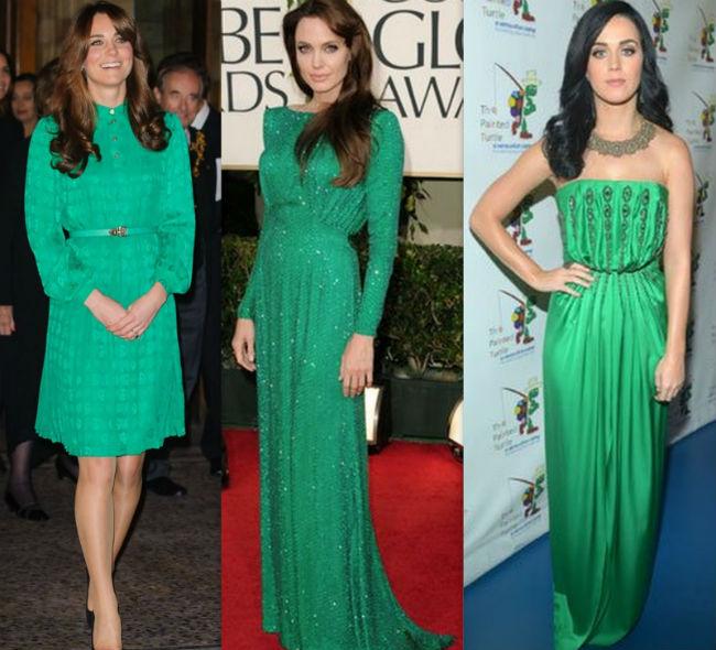O que usar com vestido verde