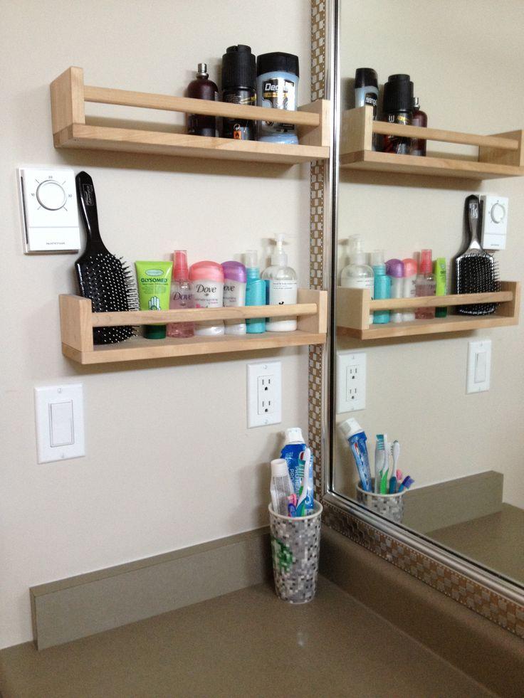 Organizar produtos banheiro : Ideias para organizar seus jogos de maquiagem e produtos